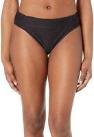 Bleu Rod Beattie Women's 239573 Black Chic Peek Side Tab Hipster Swimwear Size 6