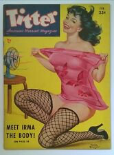 Titter Feb 1953 Driben Pin-up GGA Cvr ; Female Wrestling / Cat Fights - High Gra