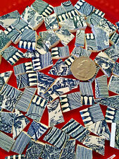 """"""" Essence Of Currier & Ives """" 70 Broken China Plate Mosaic Tiles Fill C&I shards"""