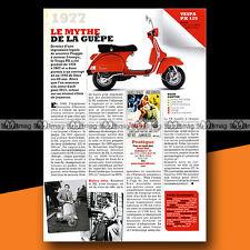 ★ VESPA PX 125 1977 ★ Article de presse Scooter / Original Article #a995