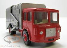 MATCHBOX King Size 7 Refuse Truk Müllabfuhr rot beweglicher Container Scale 1:43