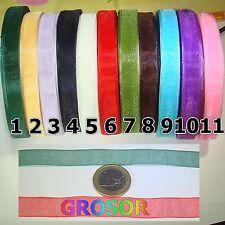 24 Metros Organza 12mm A Elegir Ribbon Tape x la compra de 2, Gratis 1 Lote