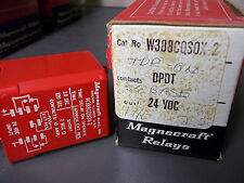 Magnecraft W388CQS0X-2 Relay Sq Base DPDT 24 VAC New Old Stock