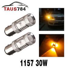 2x Amber Yellow 1157 30W LED Tail Brake Signal Blinker Light Bulbs 12-24V