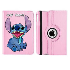 Stitch 01 Name Personalised iPad 360 Rotating Case Cover Birthday Present Gift
