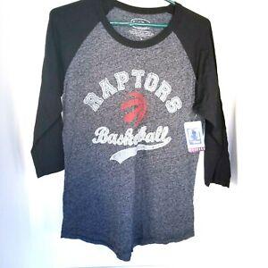 Toronto Raptors NBA Women Raglan T-Shirt Sz L Kyle Lowry #7 Basketball Black