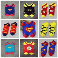Fashion Cartoon Anime Superman The Flash Wonder Woman Batman Cotton Ankle Socks