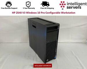 HP Z640 V3 Windows 10 Pro Configurable Workstation