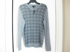 NEW WITH TAGS J F FERRAR V NECK SWEATER LIGHT ATHLETIC FIT SMALL GREY PLAID