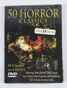 DVD 50 Horror Classics  Over 35 Hours on Four DVDs New Sealed