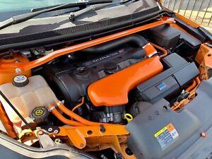 Ford Focus MK2.5 RS & ST ORANGE Front Upper Strut Brace (V2 20mm Higher)