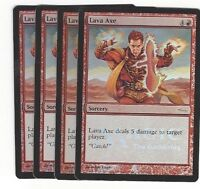 TCG 13 MtG Magic the Gathering Lava Axe Gateway Promo Foil mint Playset (4)