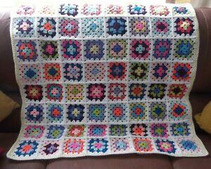 "Hand Made Crochet Blanket/Throw - 34"" (86 cm)  Square"