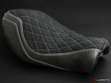 Harley Davidson Sportster Iron 883 Seat Cover 04-15 Black Silver Stitch2 Luimoto