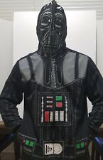 STAR WARS Darth Vader Mens Hoodie XL Black Zip Jacket Costume Zip Up Face Mask