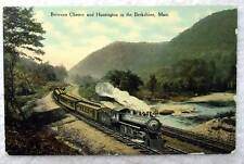 POSTCARD RAILROAD TRAIN BETWEEN CHESTER & HUNTINGTON IN BERKSHIRES #AG7