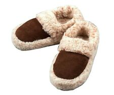 Cozy Foot Sheep Wool size 4-11 Slipper Boots Womens Mens Real Sheepskin Leather