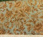 Antique French C1870 80 Cotton Wool   Silk Floral   Ribbon Tapestry Fabric 52X52