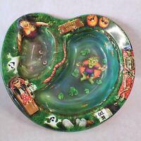 Vintage Halloween Plastic Bowl American Greetings  Spooky Swamp Frankenstein USA