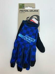 new Pearl Izumi DIVIDE bicycle Long Finger GLOVES men's Navy Checkerboard
