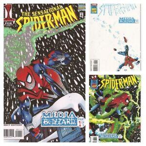 °AMAZING/SENSATIONAL/SPIDER-MAN: MEDIA BLIZZARD 1 bis 3 von 3° US Marvel 1996