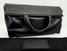 Alexander Wang Prisma black Leather Fold Over Clutch Bag New