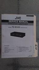 JVC td-w330 service manual original repair book stereo tape deck player