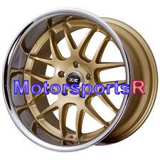 20 x 9 11 XXR 526 Gold Deep Dish Lip Rims Staggered Wheels 5x114.3 Hellaflush
