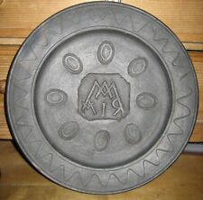 antiker Keramik Teller Lavantal graphitiert Marien Monogram SELTEN !!!