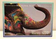 "Havana Nights 1000 Piece Jigsaw Puzzle ""Painted Elephant"" Animal Safari"