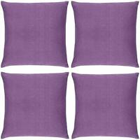 "SET OF 4  SOFT TOUCH TEXTURED PURPLE LILAC WASHABLE 18"" CUSHION COVER £11.99 SET"