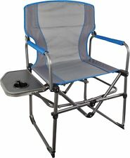 Compact Directors Chair with Side Table - Folding Compact Chair Camping Outdoor