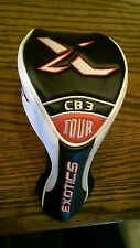 Tour Edge Golf Exotics Cb3 Tour Driver Black White Red Headcover