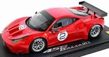 BBR P1827DIS 2011 Ferrari 458 Italia GT2 Red 1:18 Scale Resin Model