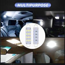 2Pcs 12-SMD LED 12V Festoon 44mm Car Dome Map Lamp License Plate Light Bulb