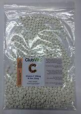 Club Vits - Vitamin C 100mg mit Zink 15mg - 1000 Tabletten - Immun Gesundheit