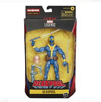 """Marvel Legends Strong Guy Series Deadpool Action Figure Blue and Yellow X-Men 6"""""""