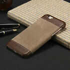 Luxury PU Leather Hard Back Case Cover For Apple iPhone & Samsung Galaxy