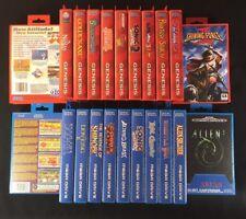 Replacement Game Case Cartridge Box For Sega Mega Drive + Art Work You Choose