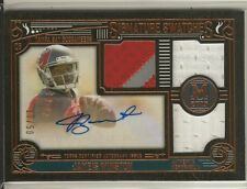 2015 Topps Museum Collection Jameis Winston 3-color Patch Auto #'d /50 Tampa Bay