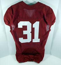 2009-15 Alabama Crimson Tide #31 Game Used Red Jersey BAMA00290