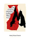 ROBERT MOTHERWELL Mostly Mozart Festival 40.25 x 29 Serigraph 1991 Expressionism