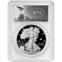 2020-W Proof $1 American Silver Eagle WWII 75th V75 PCGS PR69DCAM FS V75 Label
