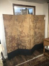 Antique French Tapestry Screen Room Devider Shabby Cottage Chic