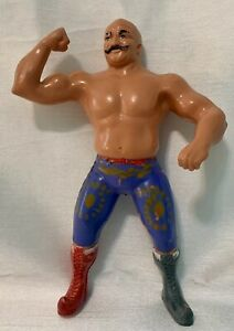 Vintage WWF Iron Sheikh Rubber Wrestling Action Figure Titan Sports LJN LTD 1984