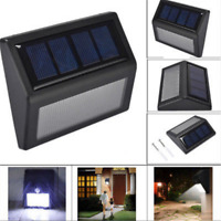 Waterproof Solar Power PIR Motion Sensor 6 LED Wall Light Outdoor Garden Lamp JT