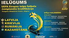 TICKET UEFA Futsal 27.-30.3.2013 Latvia Russia Romania Kasachstan