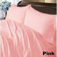 1000 TC Egyptian Cotton Home Bedding Collection Select Size Pink Striped