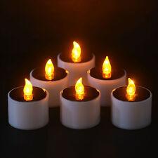 GIALLO Solar Power LED candele senza fiamma Electronic Solar LED Lampada a Luce Tè UK
