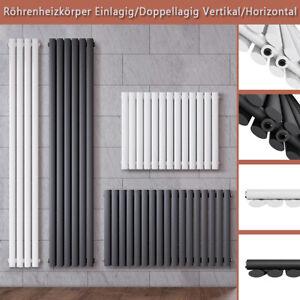 Design Röhren Heizkörper Vertikal Paneelheizkörper Doppellagig mittelanschluss